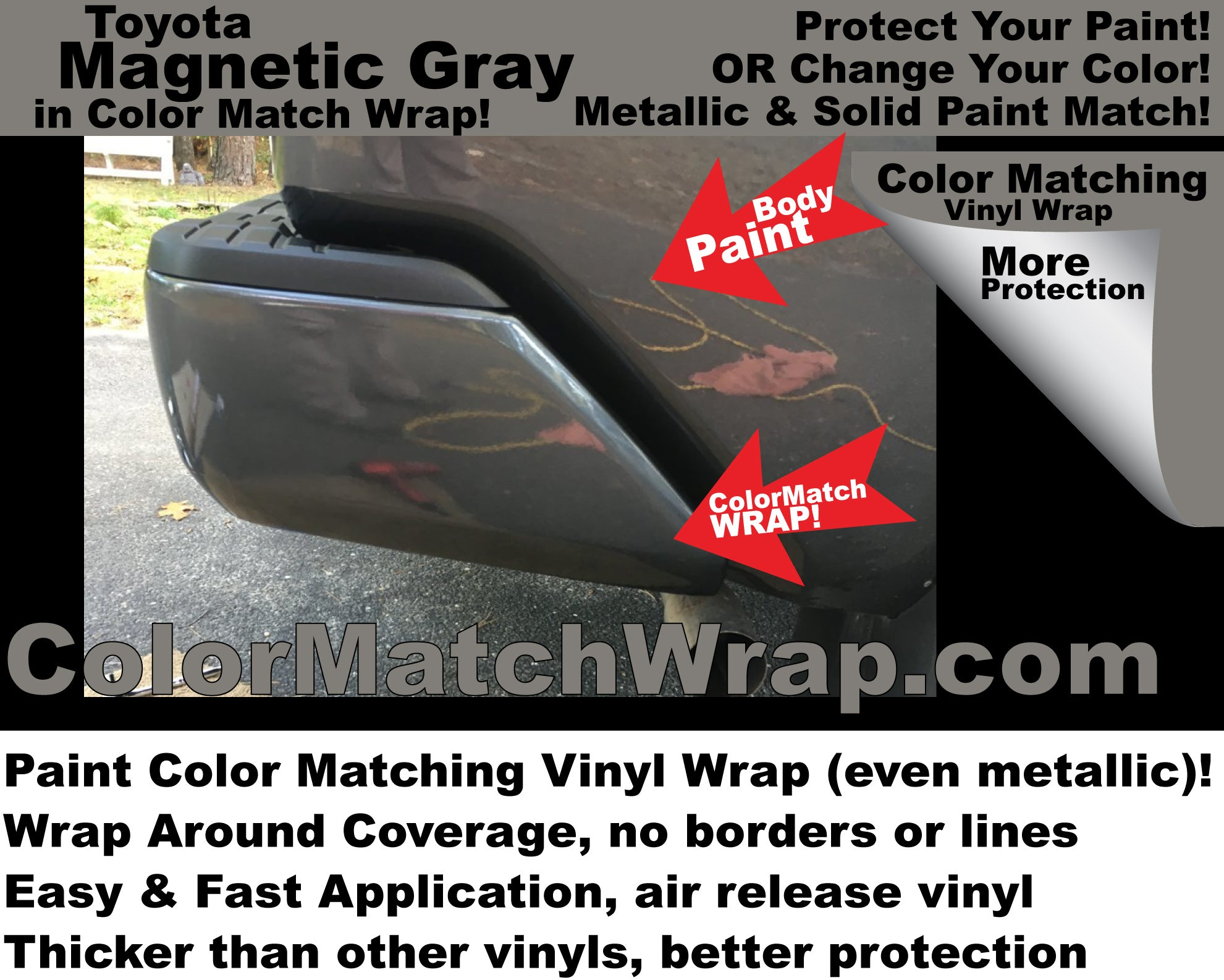Bumper Chrome Delete in paint Color Matching Vinyl Wrap