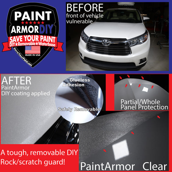 Removable Paint Protection Film - PaintArmorDIY - bed liner on body - bed liner on rocker panel