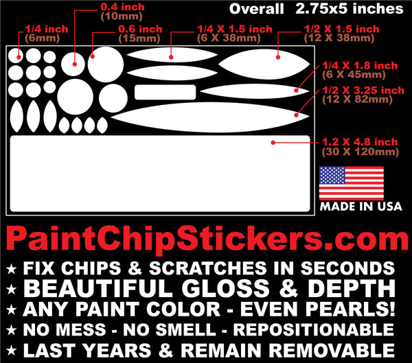 fix paint chips scratches in seconds sticker
