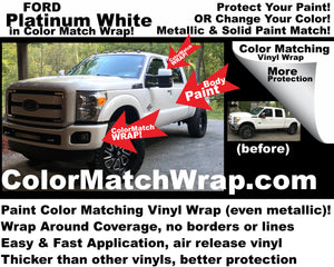 Paint Color Matching vinyl wrap - chrome delete wrap
