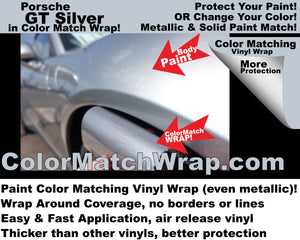 Body Paint Color Matching vinyl wrap - chrome delete wrap