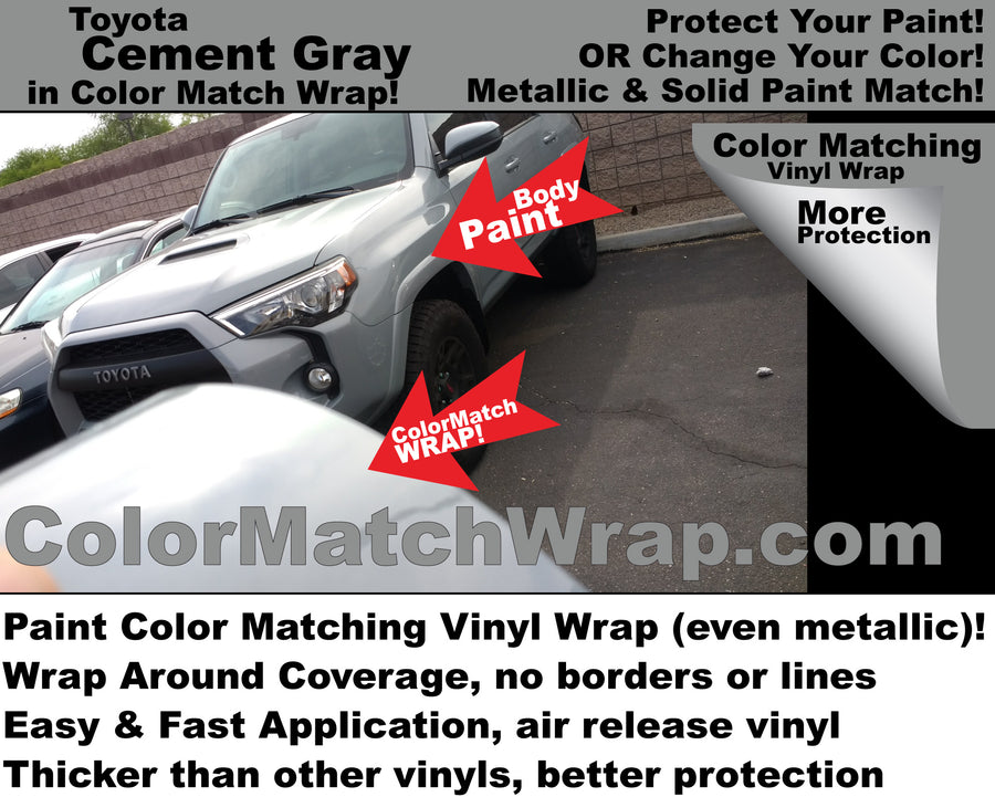 Body Paint Color Matching Vinyl Wrap - Chrome Delete