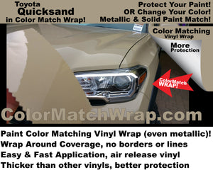 color match wrap toyota 4v6 quicksand