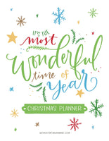 The Most Wonderful Time of the Year Christmas Planner