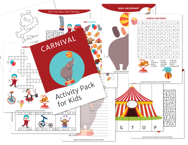 Carnival Activity Kit for Kids