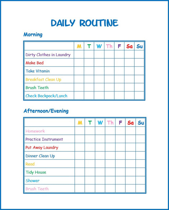 graphic about Children's Routine Charts Free Printable known as Employ the service of This Absolutely free Children Each day Timetable Printable in the direction of Establish Fantastic