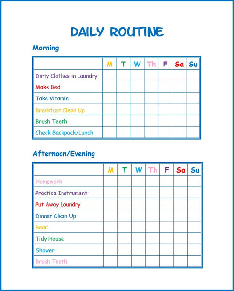 Editable Daily Routine