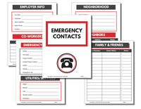 In Case of Emergency Binder (Fillable PDF)