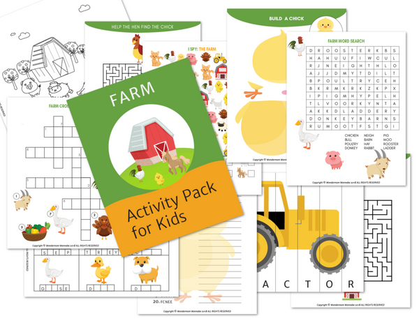 Farm Activity Kit for Kids