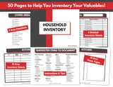 Emergency Preparedness Bundle (Fillable PDFs)
