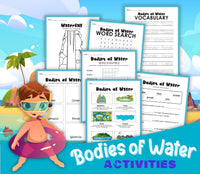 Bodies of Water Activity Set