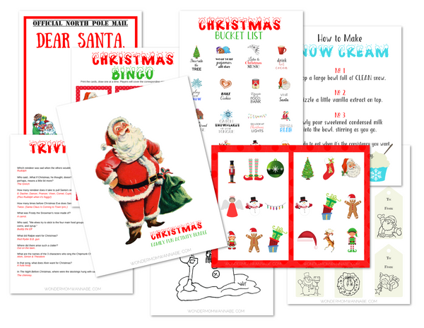Santa Activity Kit for Kids