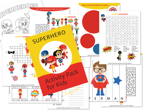 Superhero Activity Kit for Kids