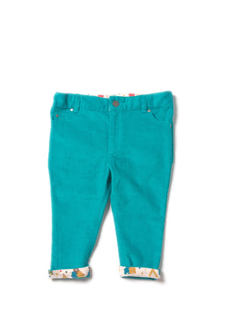 Peacock Cord Jeans - Polly & Pickles Baby Boutique
