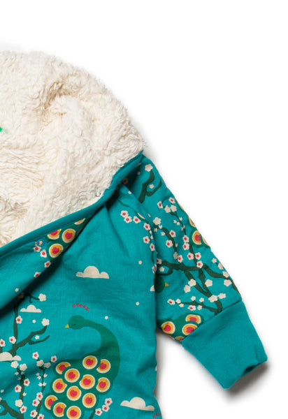 Midnight Peacock Snowsuit - Polly & Pickles Baby Boutique