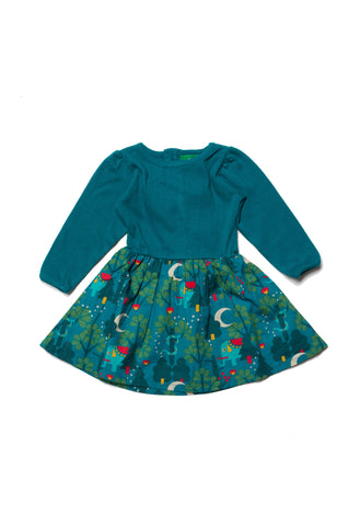 Midnight Jungle Peter Pan Dress - Polly & Pickles Baby Boutique