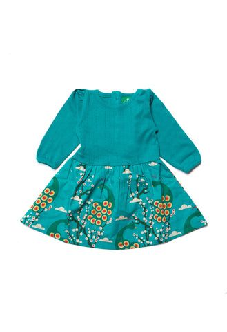 Midnight Peacocks Peter Pan Dress - Polly & Pickles Baby Boutique