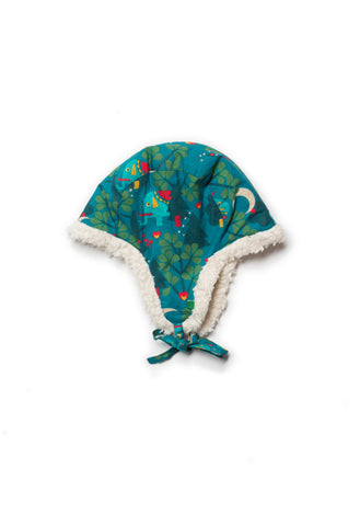 Midnight Jungle Sherpa Hat - Polly & Pickles Baby Boutique