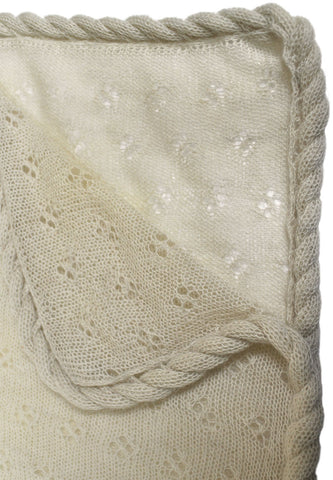 Alpaca Wool Baby Blanket-Raw White - Polly & Pickles Baby Boutique