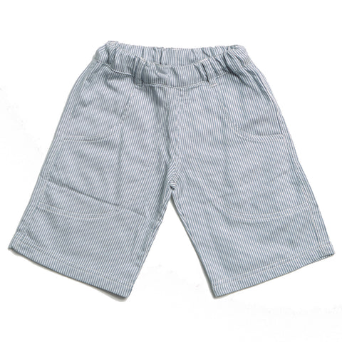 Blue/White Striped Shorts - Polly & Pickles Baby Boutique