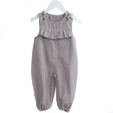 Dusty Purple Velvet Overalls - Polly & Pickles Baby Boutique
