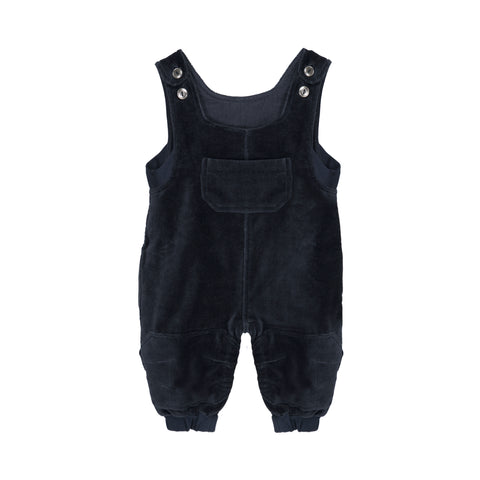 Organic Black Velvet Overalls - Polly & Pickles Baby Boutique