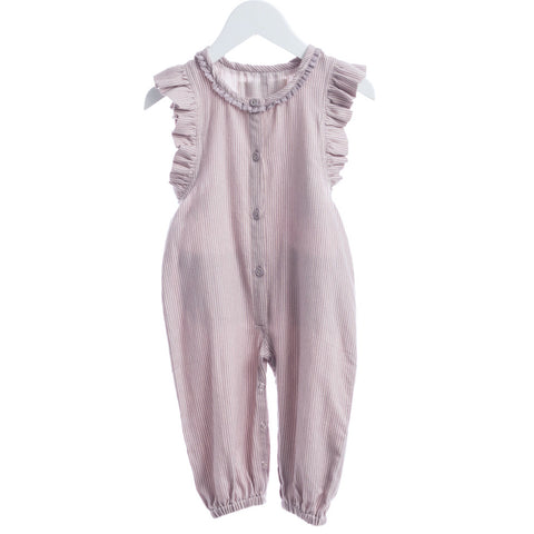 Rose/White Overalls - Polly & Pickles Baby Boutique