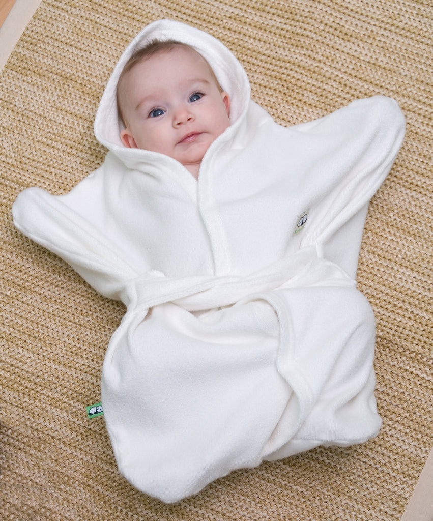 Enclosed Hooded Baby Wrap And Towel Bamboobino Polly Pickles