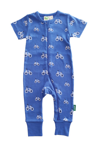 Organic Romper - Bikes - Polly & Pickles Baby Boutique
