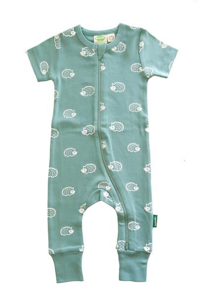 Organic Romper - Hedgehogs - Polly & Pickles Baby Boutique