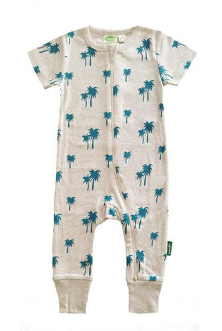 Organic Romper - Palms - Polly & Pickles Baby Boutique