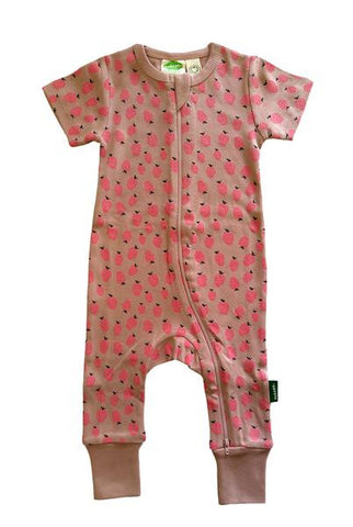Organic Romper - Raspberries - Polly & Pickles Baby Boutique