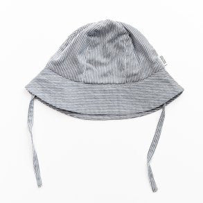Blue and White Stripe Bucket Hat - Polly & Pickles Baby Boutique