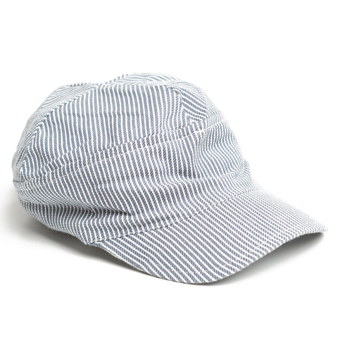 Blue/White Striped Cap - Polly & Pickles Baby Boutique
