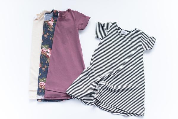 Stripe Tee Hi-Low Dress - Polly & Pickles Baby Boutique
