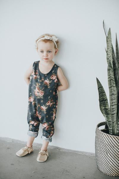 Floral Tank Romper - Polly & Pickles Baby Boutique