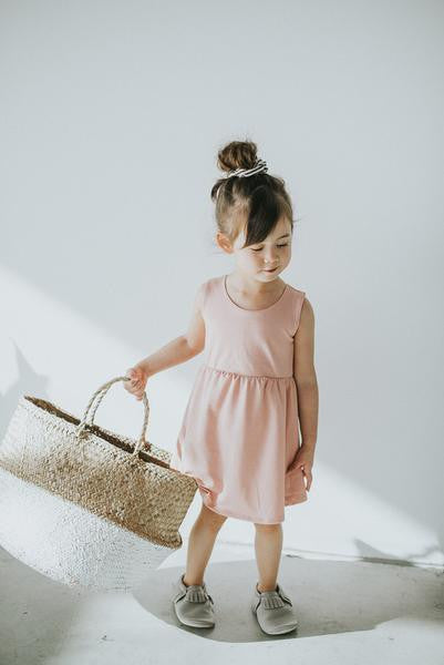 Rose Quartz Tank Spin Dress - Polly & Pickles Baby Boutique