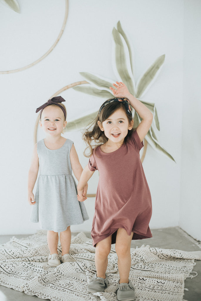 Rosewood Tee Hi-Low Dress - Polly & Pickles Baby Boutique