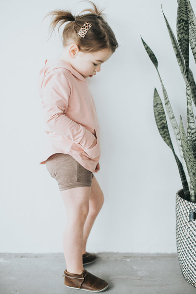 Rose Quartz Pocket Hoodie - Polly & Pickles Baby Boutique