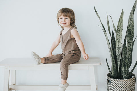 Chocolate Tank Romper - Polly & Pickles Baby Boutique