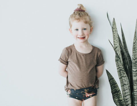 Chocolate Slouchy Tee - Polly & Pickles Baby Boutique