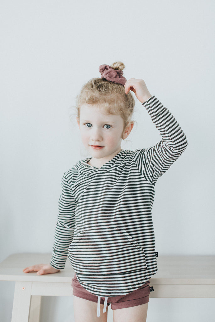 Stripe Pocket Hoodie - Polly & Pickles Baby Boutique