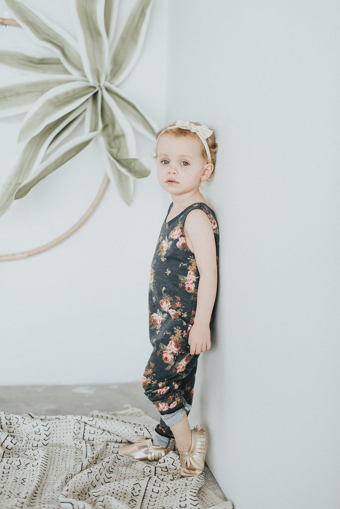 acc35b3f20d Floral Tank Romper - Jax and Lennon Co. – Polly   Pickles Baby Boutique