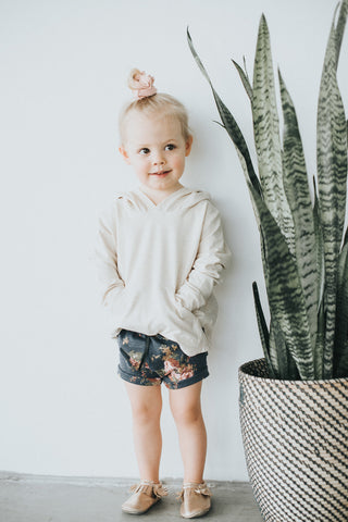 Cream Pocket Hoodie - Polly & Pickles Baby Boutique