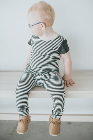 Stripe Tank Romper - Polly & Pickles Baby Boutique