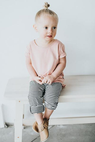 Rose Quartz Slouchy Tee - Polly & Pickles Baby Boutique