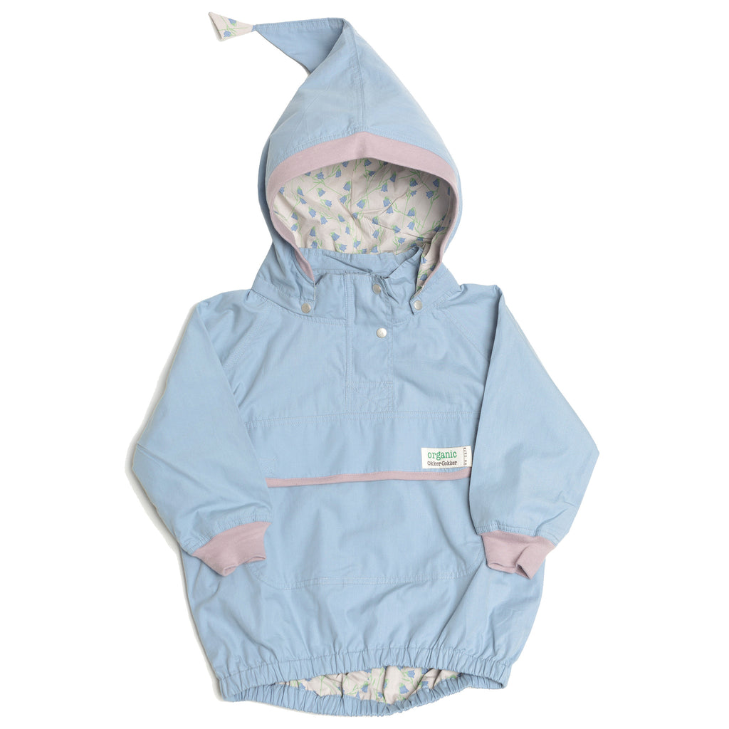 Dusty Blue Windproof Jacket - Polly & Pickles Baby Boutique