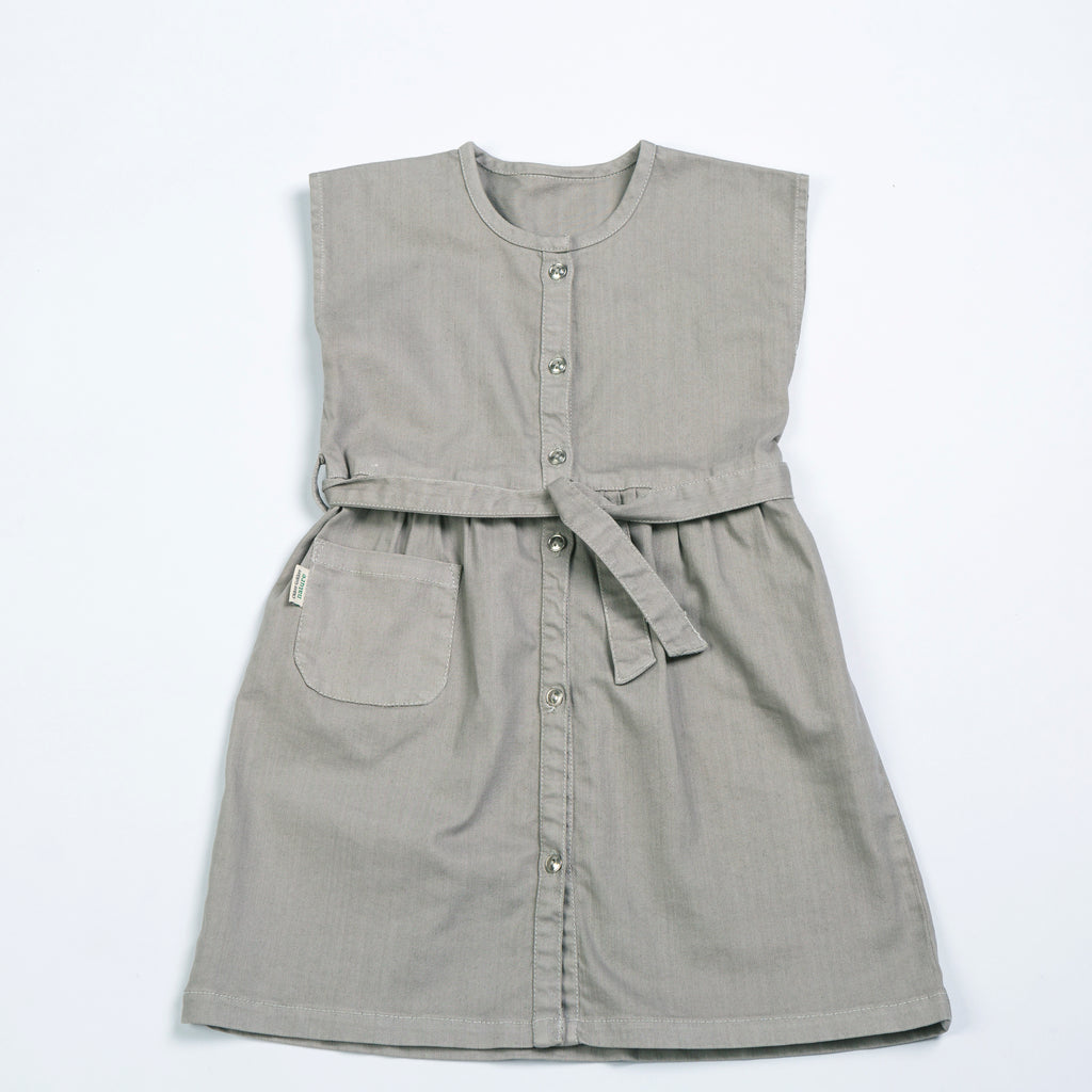 Organic Gray Denim Dress - Polly & Pickles Baby Boutique