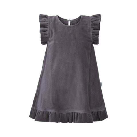Purple Velvet Dress - Polly & Pickles Baby Boutique