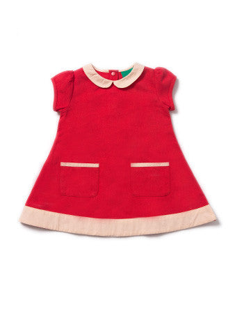 Pillar Box Red Tunic Dress - Polly & Pickles Baby Boutique